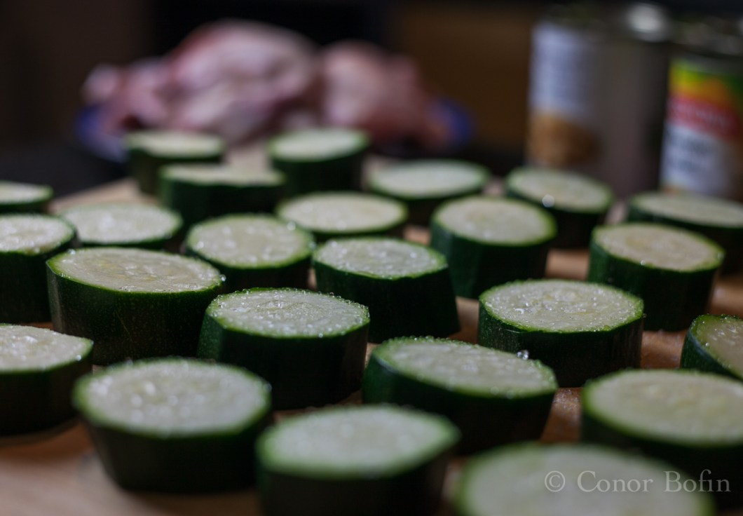 Photography can be good for one's mood too. Look at the sweating courgettes.
