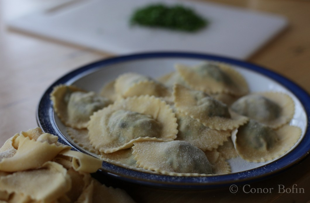Totally gratuitous waiting ravioli shot. I really like this one.