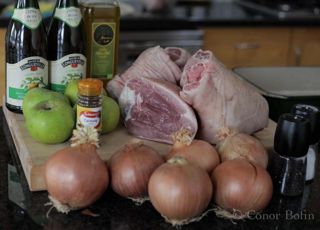 Very simple ingredients for a very simple dish.