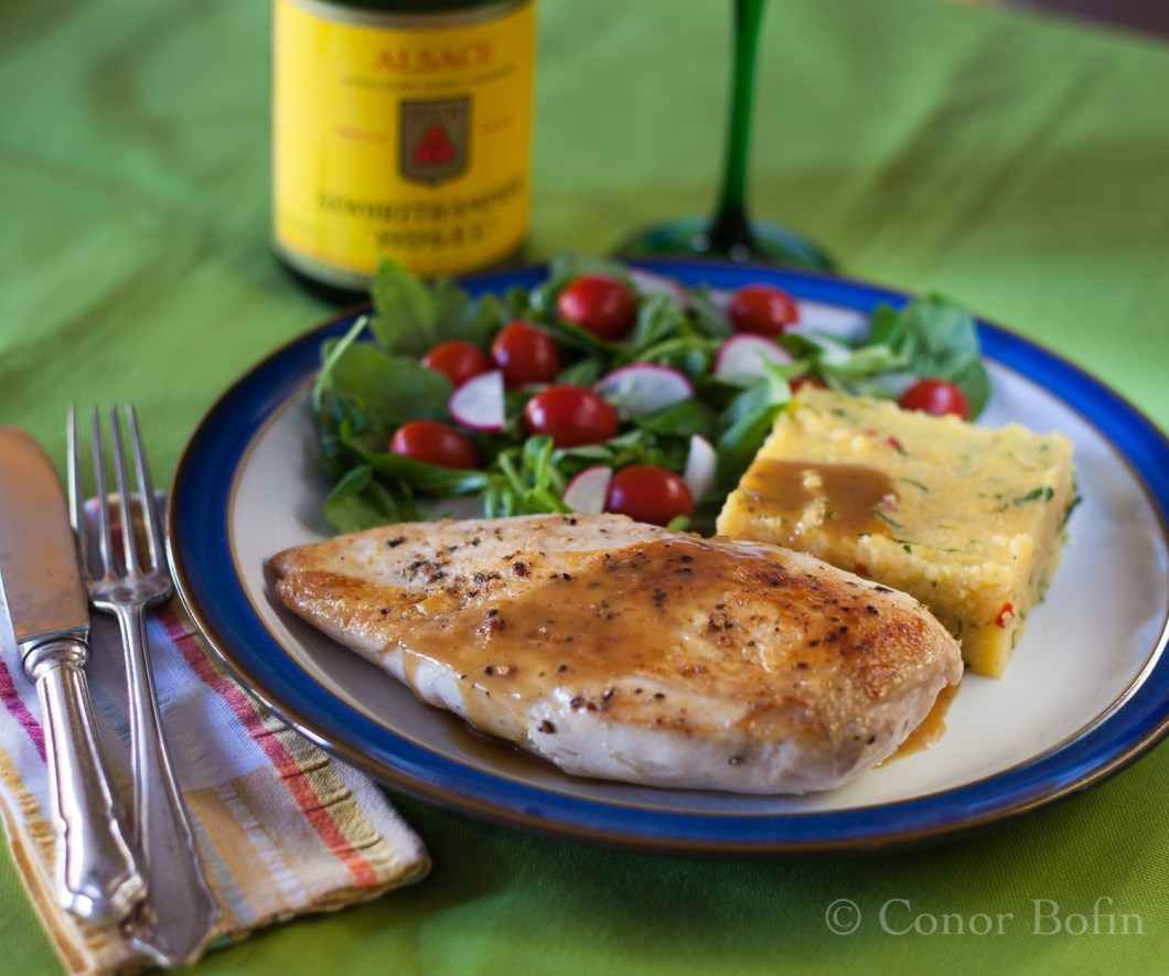 Sous vide chicken with herb polenta (8 of 9)