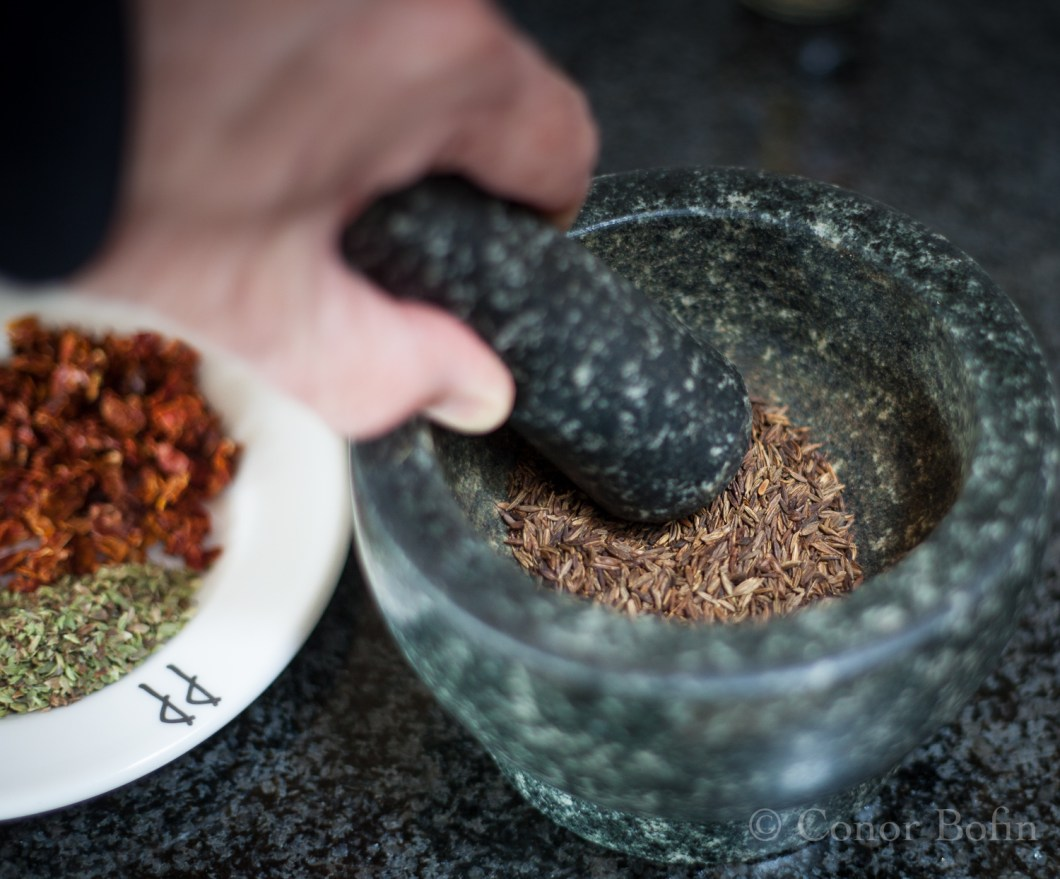 The cumin adds a nice smokiness that works well with the ancho chilis.