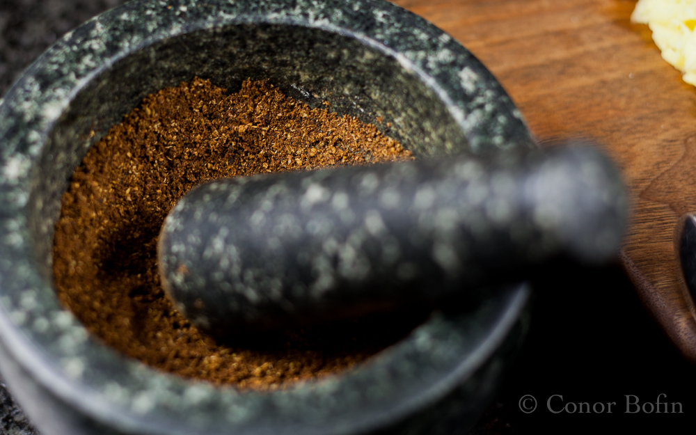 One of life's simple pleasures, grinding one's own spices.