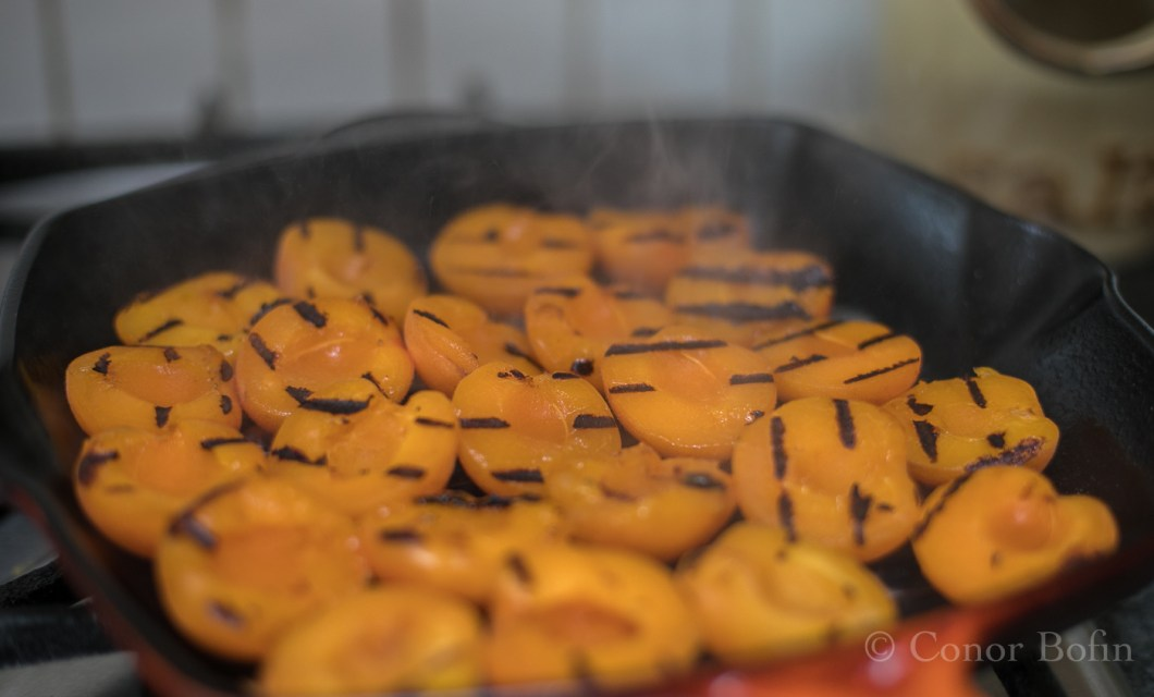Fried apricots