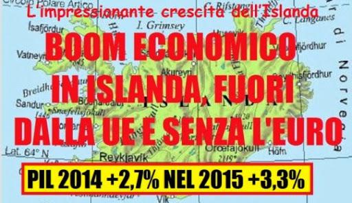 Islanda: boom economico fuori dall UE e senza Euro