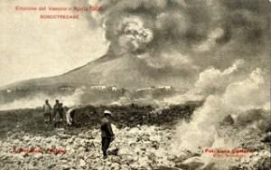 Eruzione del Vesuvio del 1906, la lava a Boscotrecase