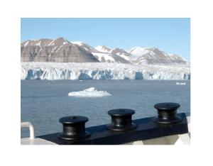 Sullo sfondo il ghiacciaio del Tempelfjorden, Arcipelago delle Svalbard