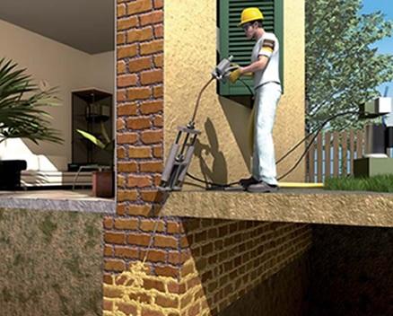 fig.4: Walls Restoring® , ripristino dell'integrità strutturale nei paramenti murari