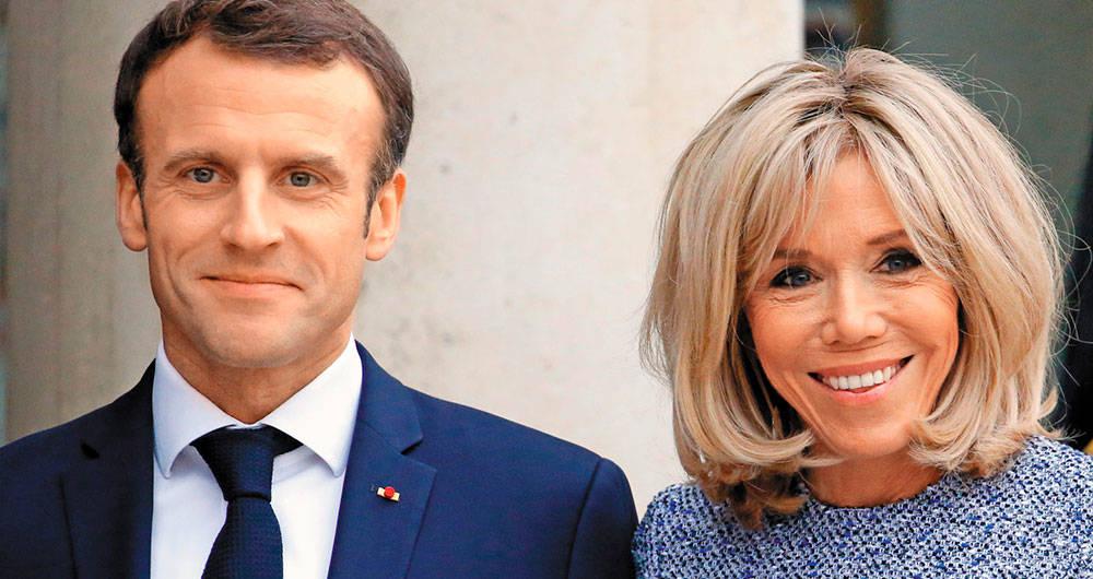 Emmanuel Macron y Brigitte