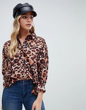 Boohoo Leopard Print Shirt