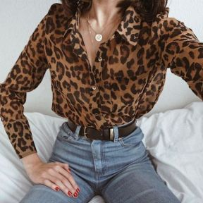Leopard Print Shirt and Jeans