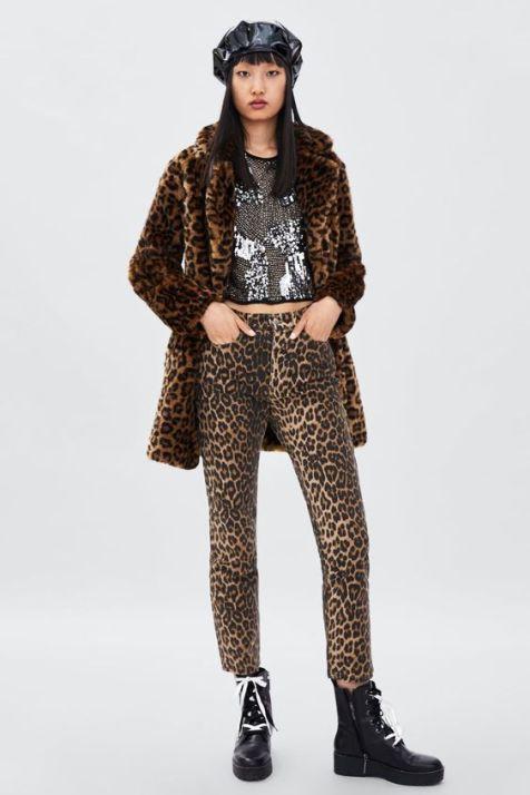 Leopard Print Trousers - jeans