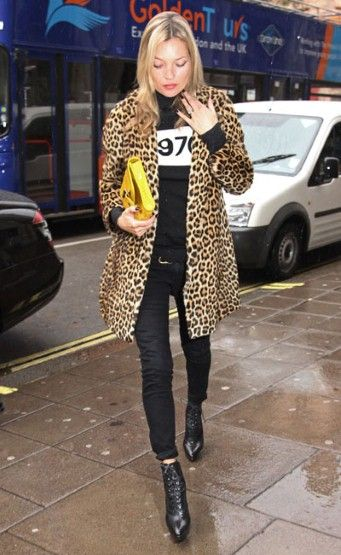 Leopard print Kate Moss