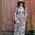 Floral Maxi Wrap Dress 16