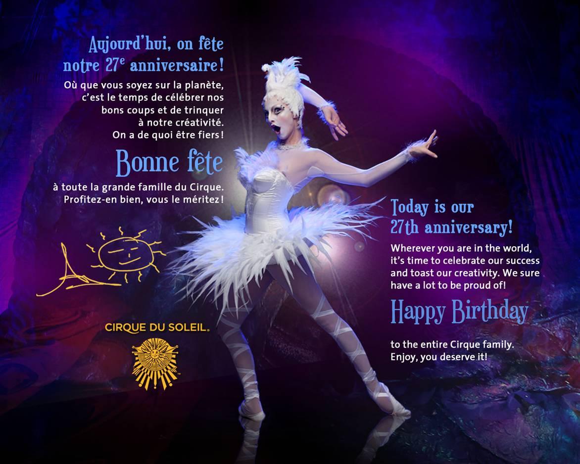 Cirque Du Soleil Celebrates 27th Anniversary – Conrad