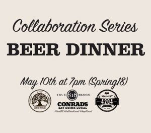 Collaboration Series Beer Dinner Spring 2018