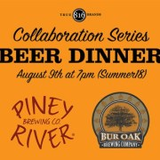 Collaboration Series Beer Dinner Summer 2018