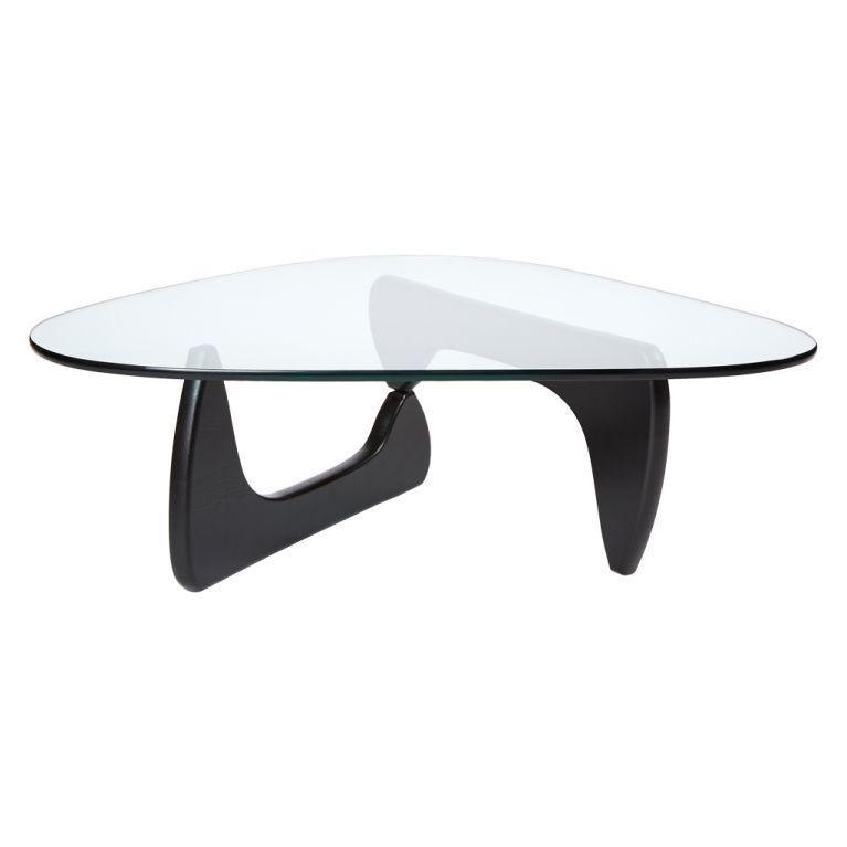 table basse noguchi frene noir verre vitra