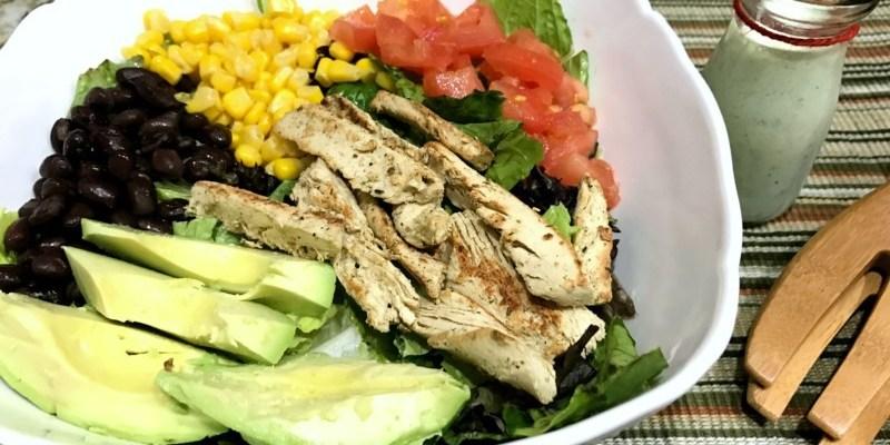 #40DiasMorningStar Ensalada Vegetariana Southwest con aderezo de cilantro