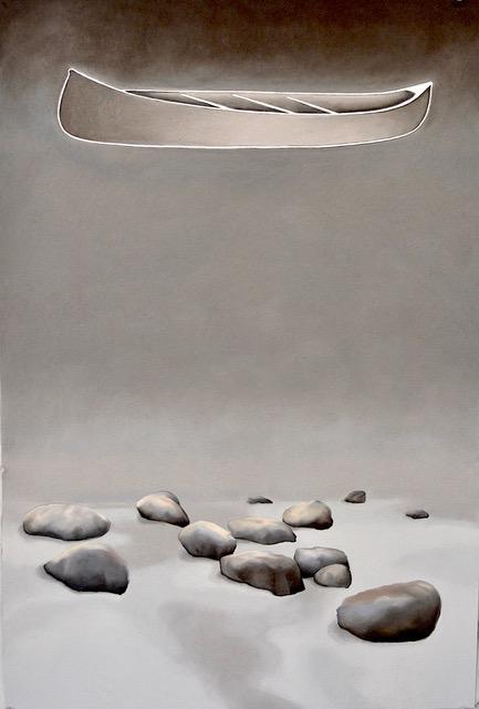 'Portage', pastel sur papier, 40' x 60' (2020) - France Trépanier