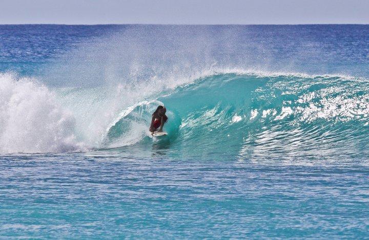 Barbados Surfing Barrelled