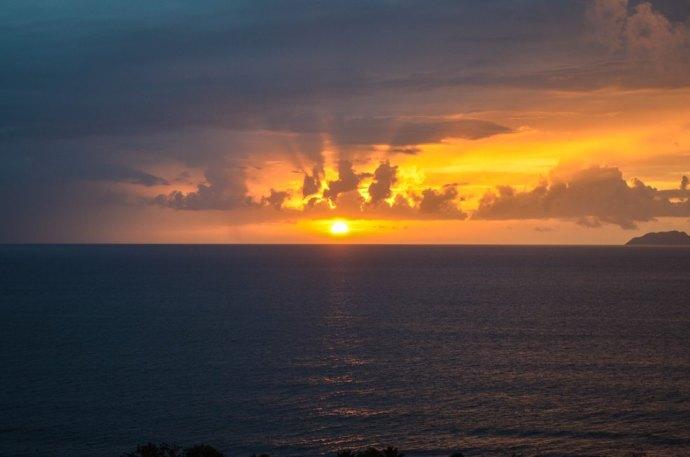 Rincon Fish Eye View Sunset