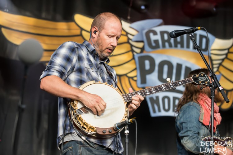 Michael Arlen of Greensky Bluegrass onstage at Grand Point North