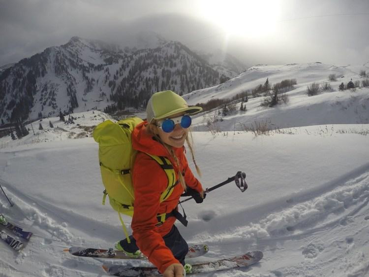 Mountain selfie. Caroline Gleich
