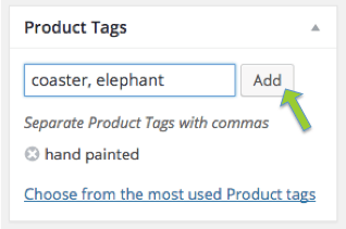 Add product tags