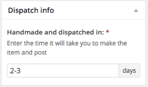 Dispatch info