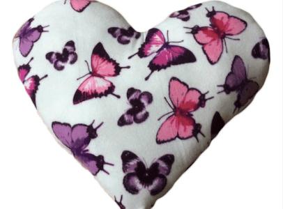 Heart butterfly cushion Snugglebedz