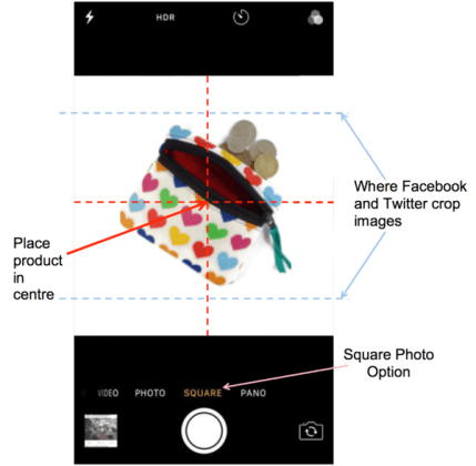 How to take a square photo