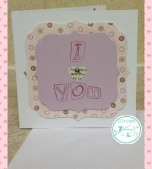 I Love You handmade Valentine's card