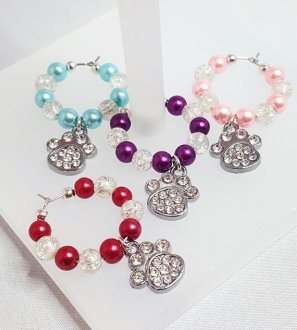 PAW PRINT WINE GLASS CHARMS KATTYS CRAFTS