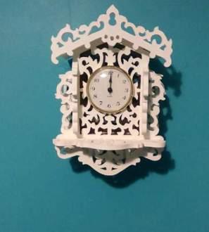 Victorian scrollsaw wall clock