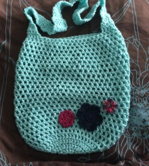 Hand crocheted Really Useful Market Tote Bag