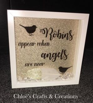 'Robins appear when Angels are near' Box Frame