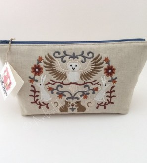 Woodland Animal Cosmetic Bag, Pencil Case, Storage Bag - can be personalised