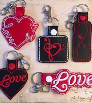 valentines keyrings