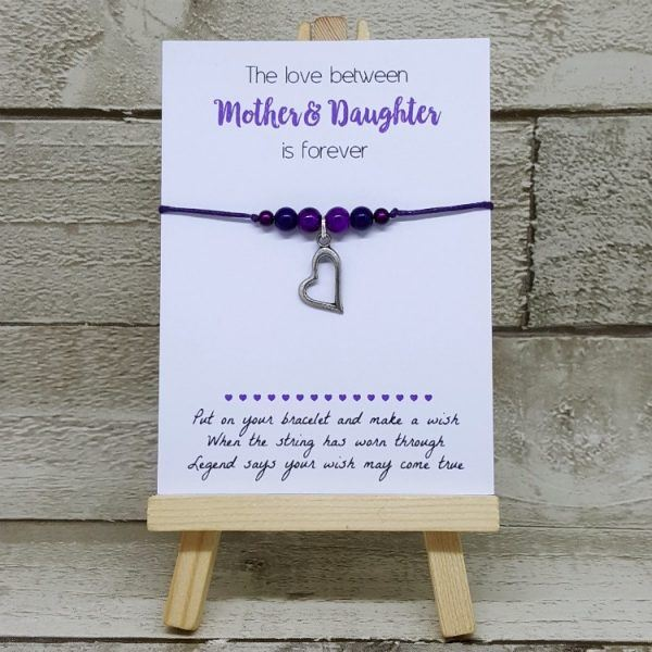 Love Forever… Mother & Daughter Beaded Wish Bracelet
