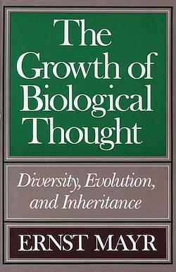 Boekomslag, voorkant, van Ernst Mayr's boek. over biologie.