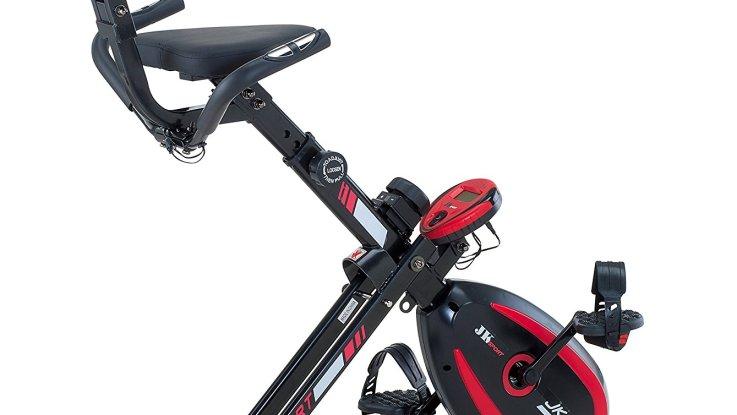 velo appartement jk fitness jk 1 0 x bike recumbent magnetique noir rouge
