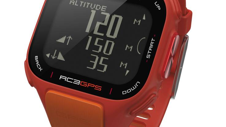 polar rc3 gps sports fitness running speed distance tracking watch new orange