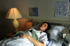 girl in a hospital bed