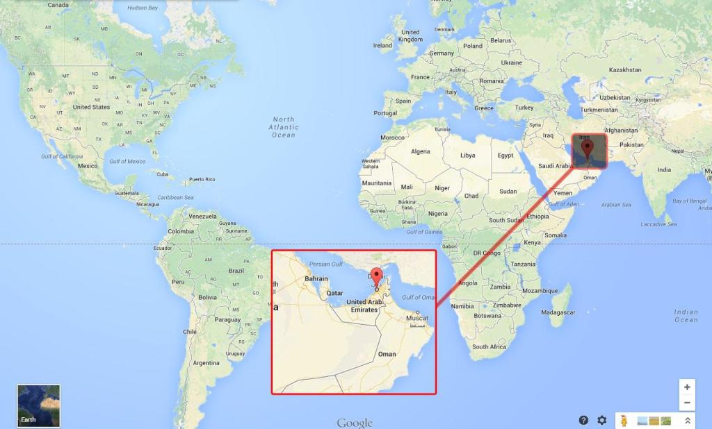 dubai map