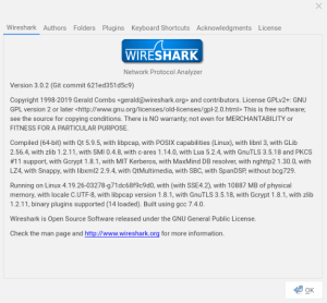 Wireshark 3.0.2 - On Crostini Ubuntu 18.04