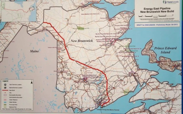 TransCanada's Energy East Pipeline route through N.B.