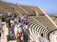 Herod's amphitheater, a metaphor for political theater or hypocrites. The soul harvest will proceed without such people.