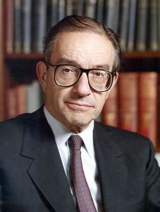 """Alan Greenspan, former member of the Ayn Rand """"collective"""""""