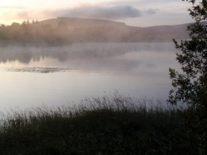 Mist on Blessington Lake in Ireland. This is a good model of the pre-Flood water cycle.