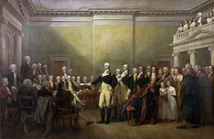General George Washington resigns his commission. Would Obama ever voluntarily resign such a commission? Also: President Washington warned against paper money.